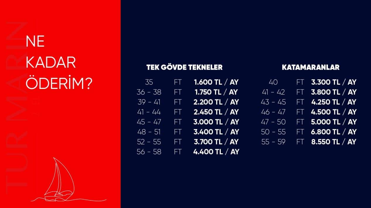 Tur Marin 2. El İskelesi Fiyatları